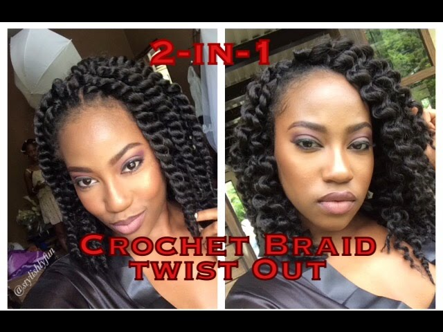 IN-1 Crochet braid twist out