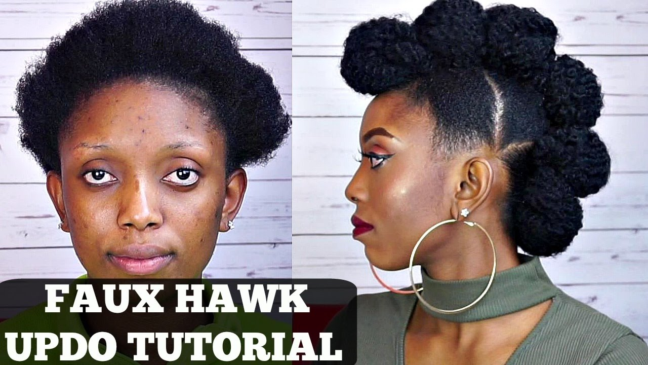 Natural Hair Faux Hawk Tutorial